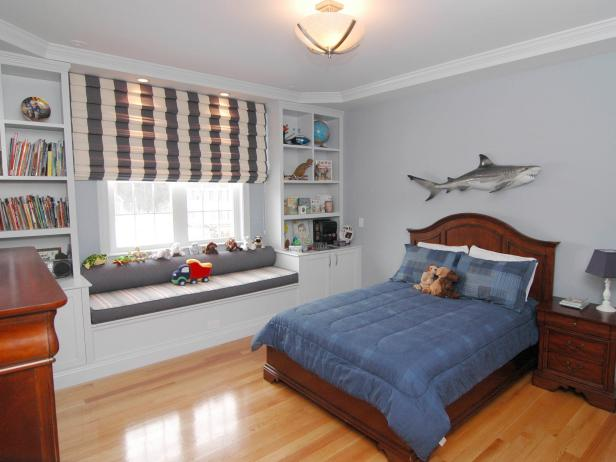 Transitional Boy S Bedroom With Shark Decor Hgtv