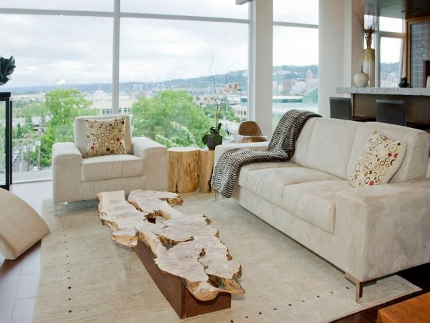 Contemporary Neutral Living Room With View