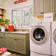 Charming Country Style Laundry Room