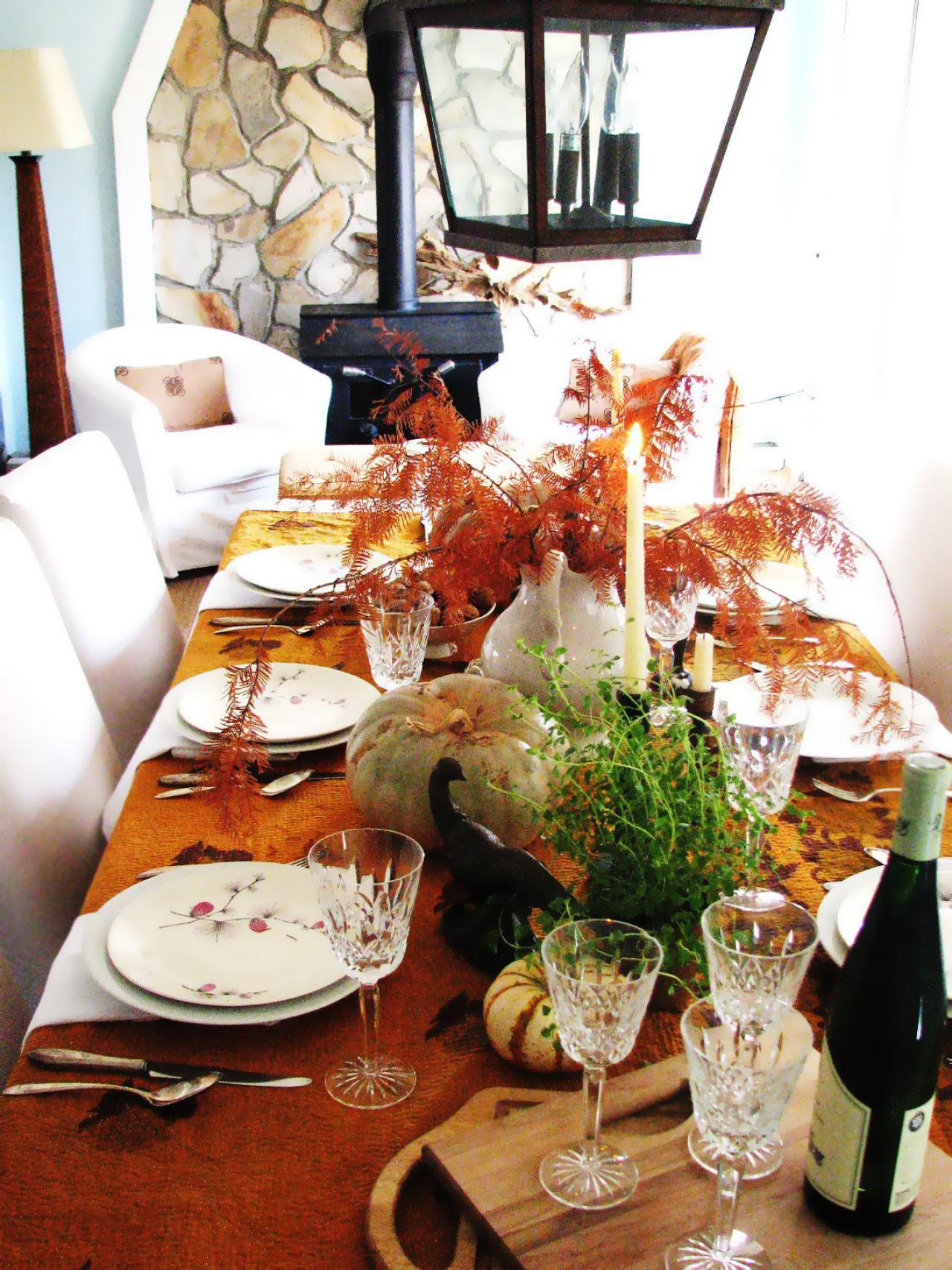 Last Minute Thanksgiving Centerpieces