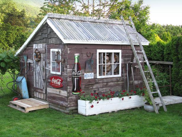 Backyard Shed With Vintage Charm Hgtv