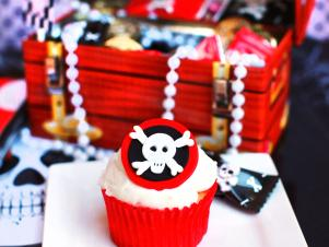 Pirate-Themed Boy's Birthday Party with Skull and Crossbones Cupcakes