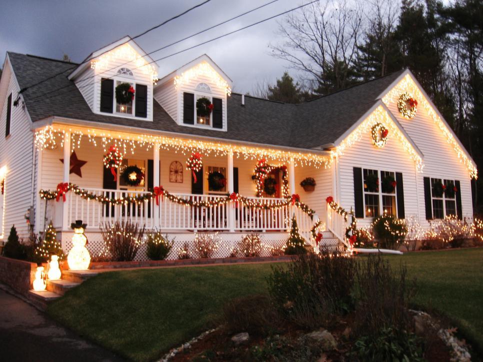 Stunning Outdoor Christmas Displays | HGTV on Patio Decorating Ideas With Lights id=81291