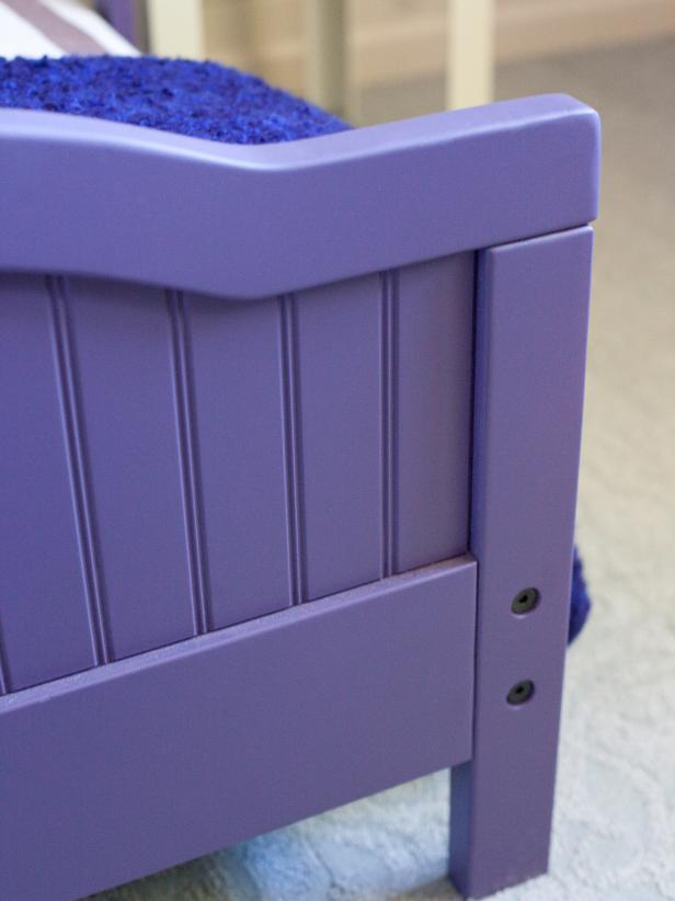 Purple Toddler Bed Detail