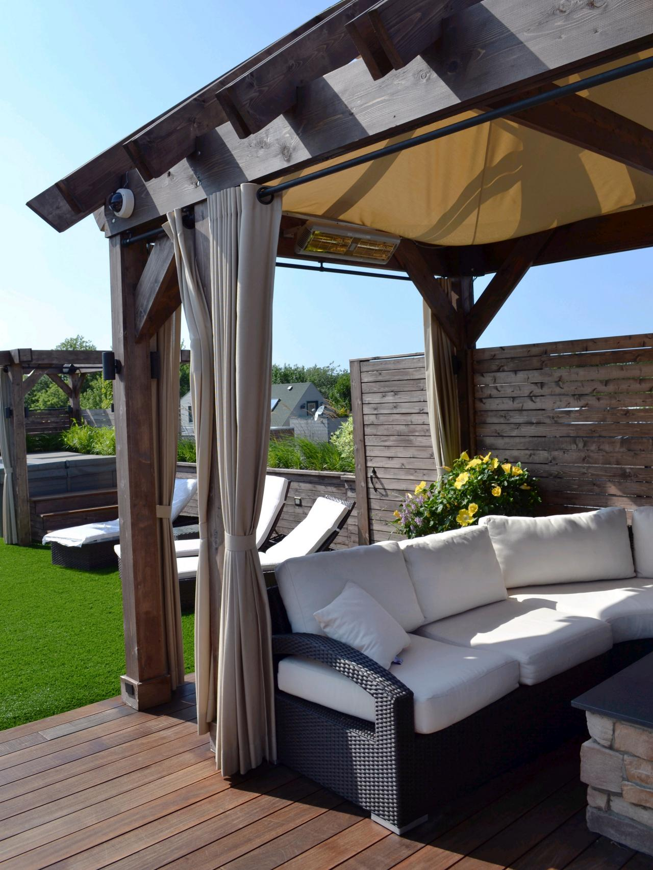 5 DIY Shade Ideas for Your Deck or Patio | HGTVu0027s Decorating u0026 Design Blog | HGTV : deck canopy with screen - memphite.com