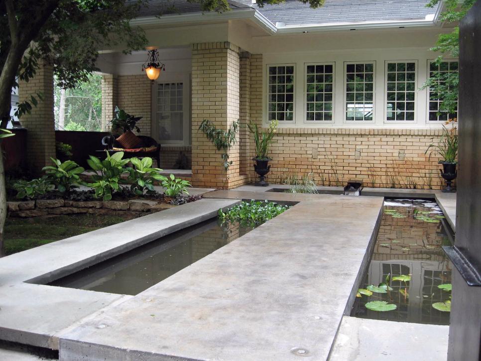 interesting feature water garden waterfall | 15 Unique Garden Water Features | HGTV