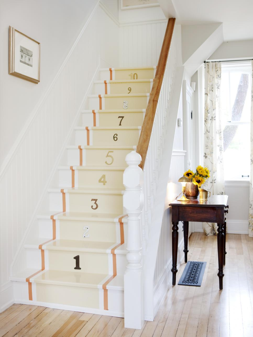 Painted Numbered Staircase