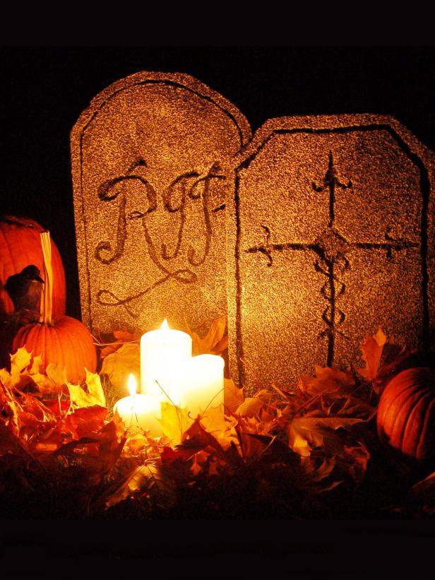Halloween Foam Tombstones
