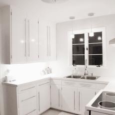 Contemporary All White Kitchen