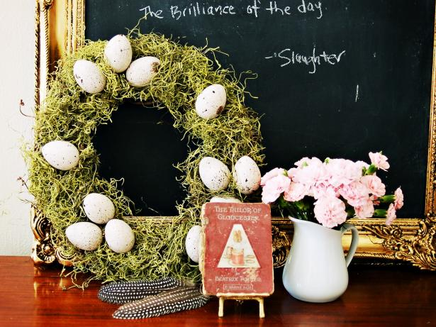 Beautiful Egg and Moss Wreath