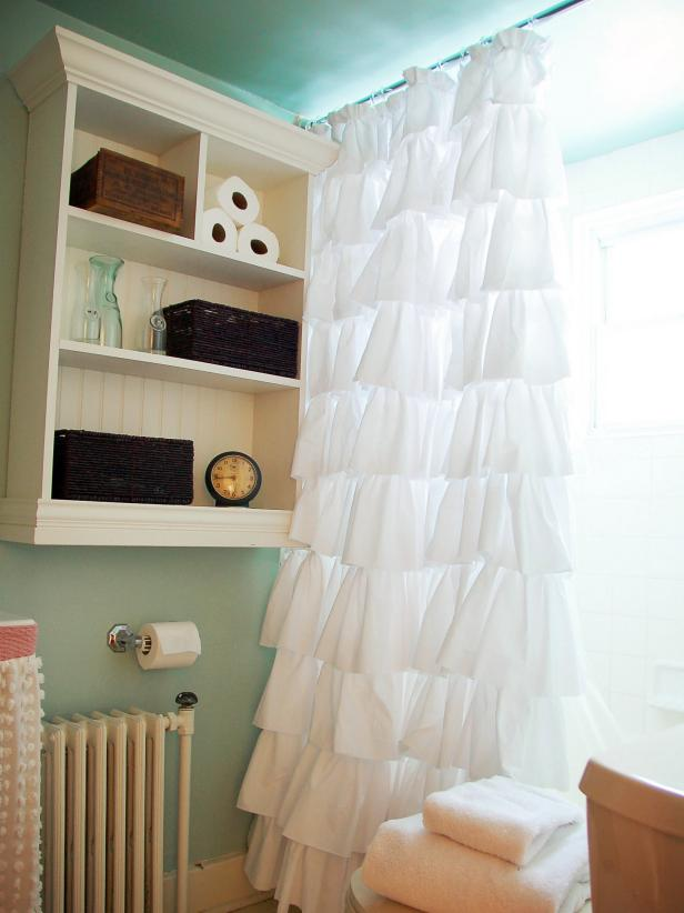 Create An Easy Custom Ruffled Shower Curtain