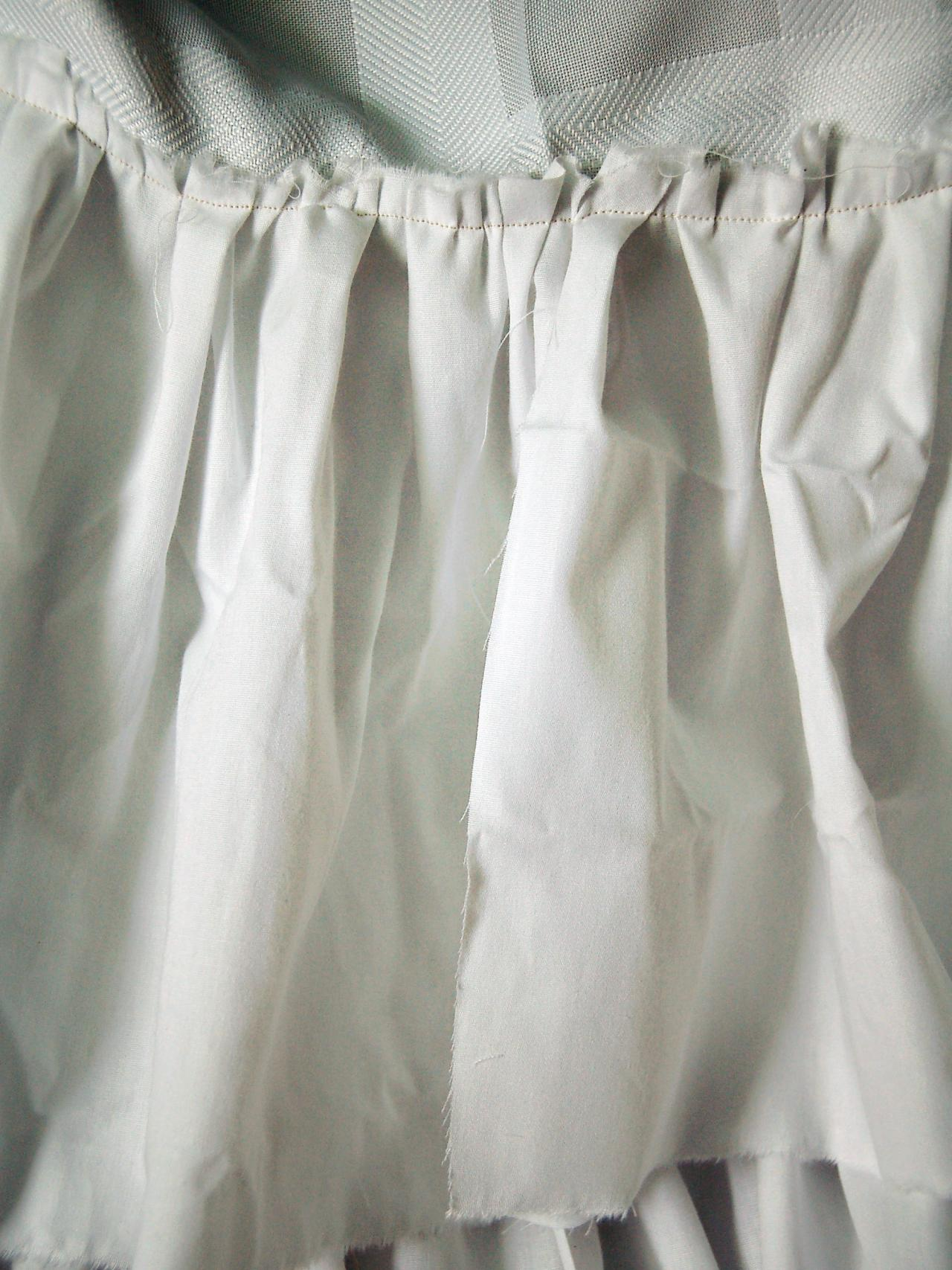 Shower Curtain Ruffle Seam