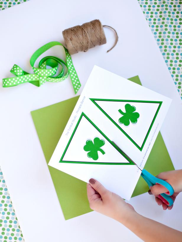 Homemade St. Patrick's Day Banner