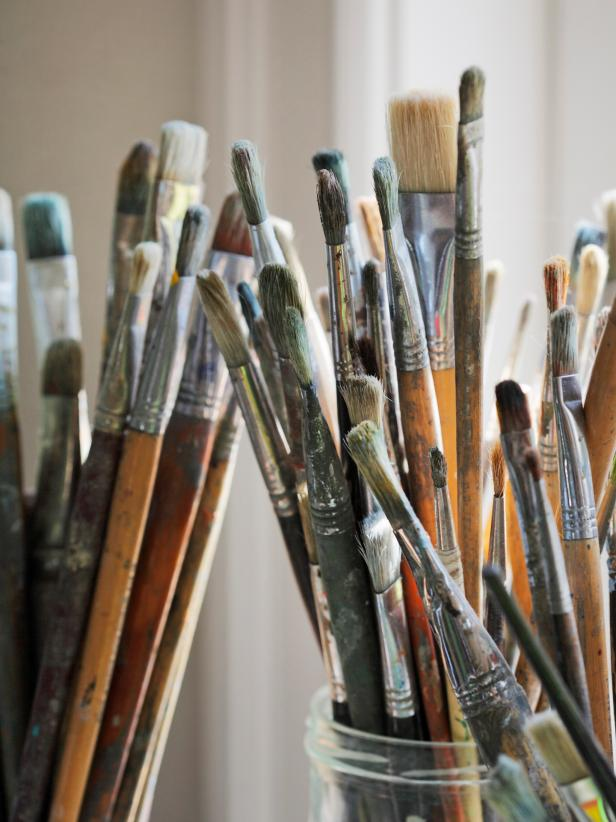 Well-Loved Paint Brushes