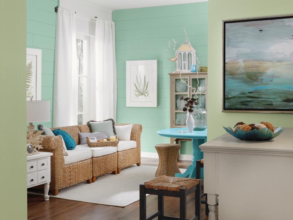 Coastal living room ideas hgtv for Sherwin williams living room ideas