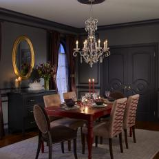 Gray Sophisticated Dining Room