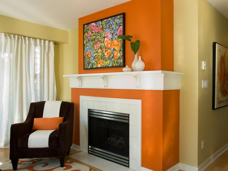 Color theory 101 analogous complementary and the 60 30 Color ideas for living room with brick fireplace