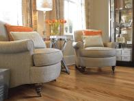 Traditional Room Features Shaw Flooring in Red Oak