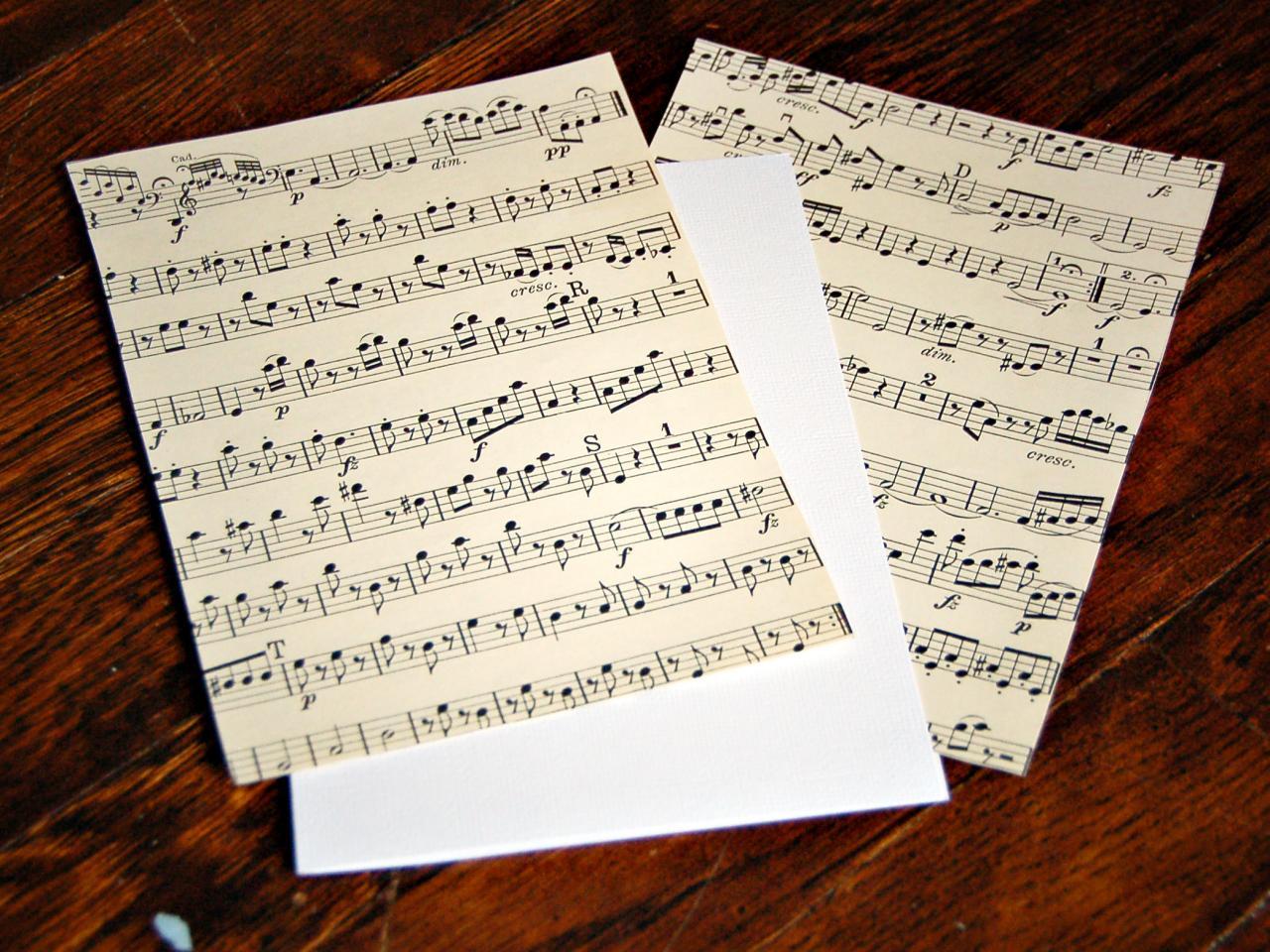 Vintage Sheet Music Handmade Christmas Card Hgtv