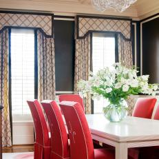 Sophisticated Dining Room With Preppy Details