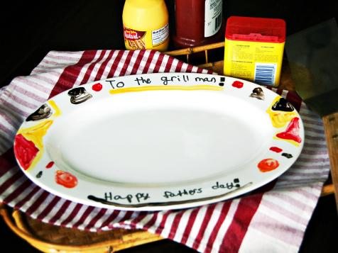 Hand-Painted Father's Day Grill Platter