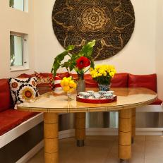 Asian-Inspired Dining Banquette