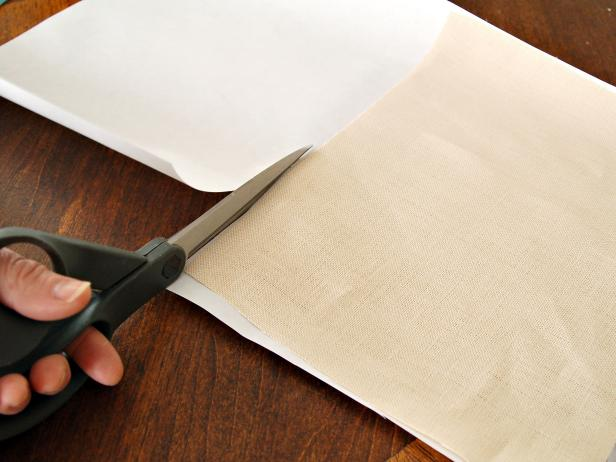 Cutting Out Linen and Freezer Paper