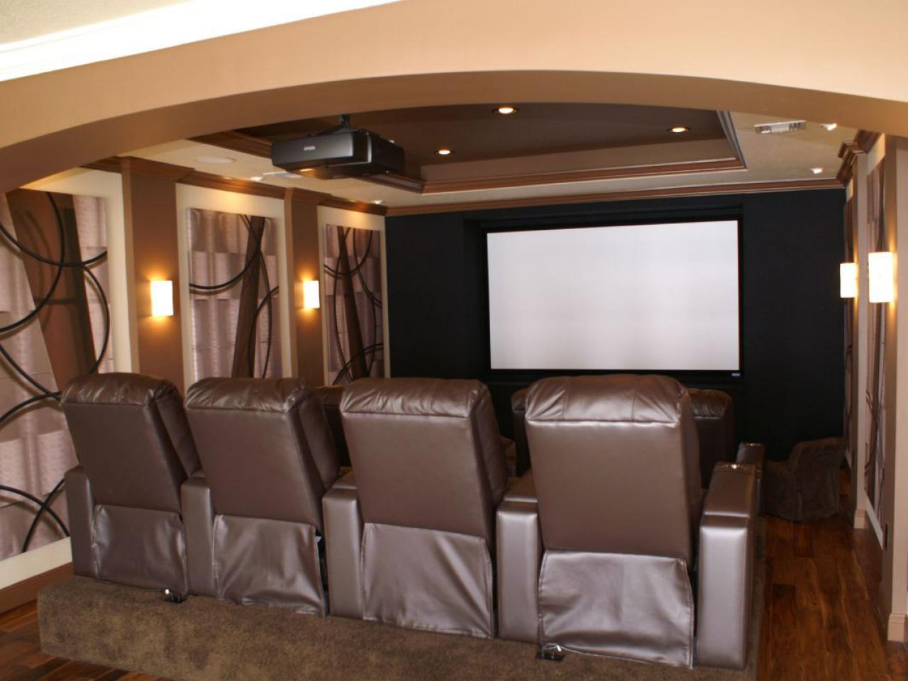 how to build a home theater hgtv. Black Bedroom Furniture Sets. Home Design Ideas
