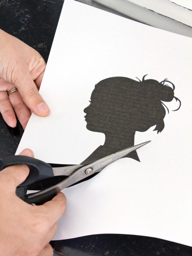 Use scissors to cut out the silhouette.