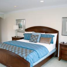 Traditional Master Bedroom With Contemporary Touches