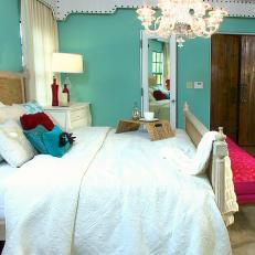 Bright Teal Bedroom