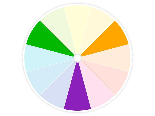 HGTV Color Wheel Shows Secondary Colors