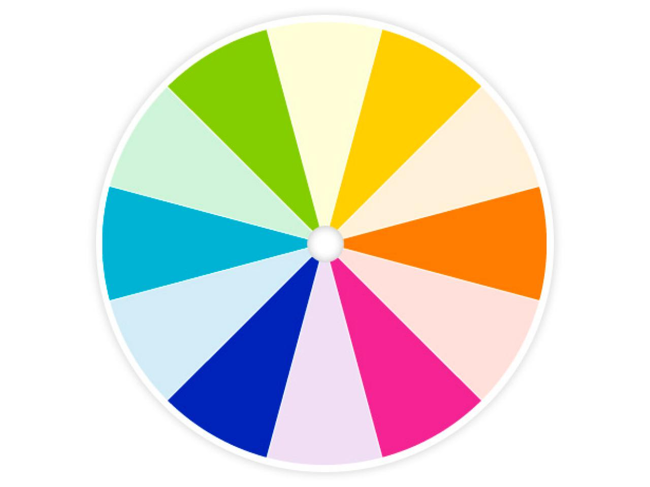 Color wheel primer hgtv for Pictures of designs