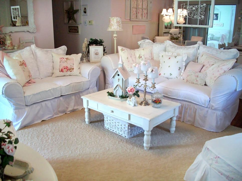 shabby chic living rooms hgtv 50909
