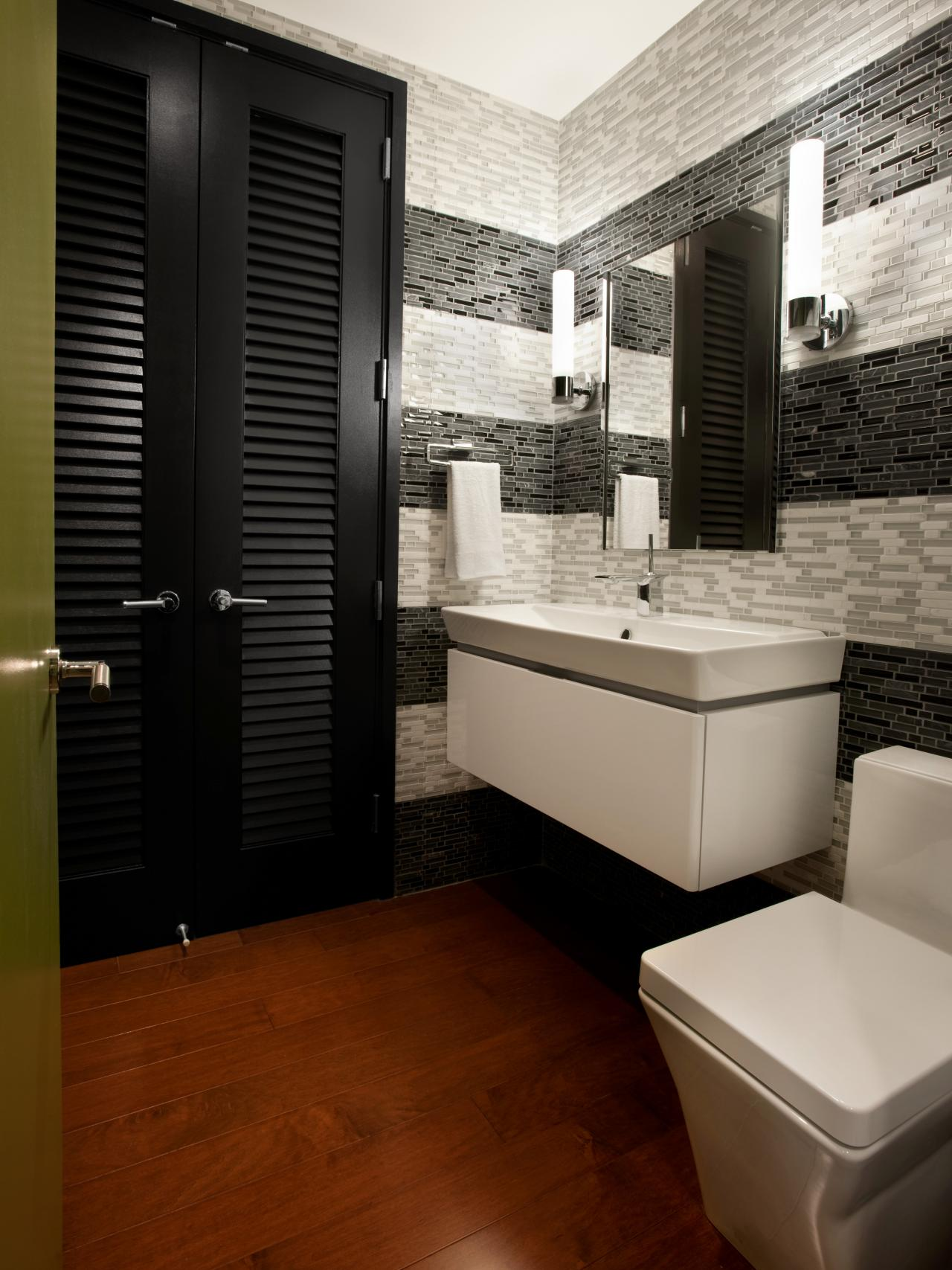 Modern bathroom design ideas pictures tips from hgtv hgtv for Modern bathroom design small