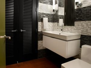 Powder Room Off Foyer in Urban Oasis 2011