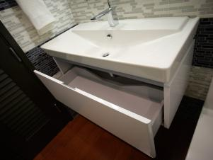 Powder Room Sink Drawer in Urban Oasis 2011