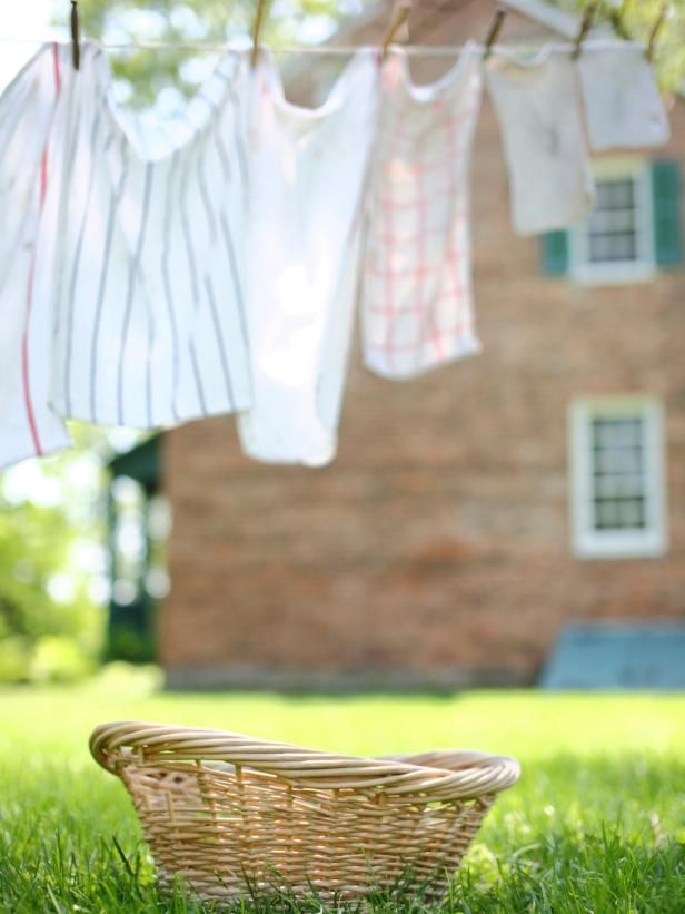 Laundry Outside on Clothes Line