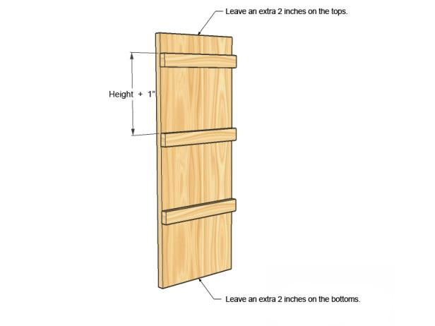 Laundry Room Tote Bin Storage Unit Side Diagram