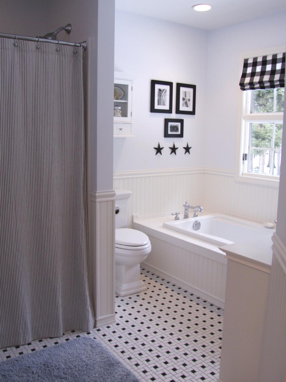black and white bathroom designs hgtv 24961
