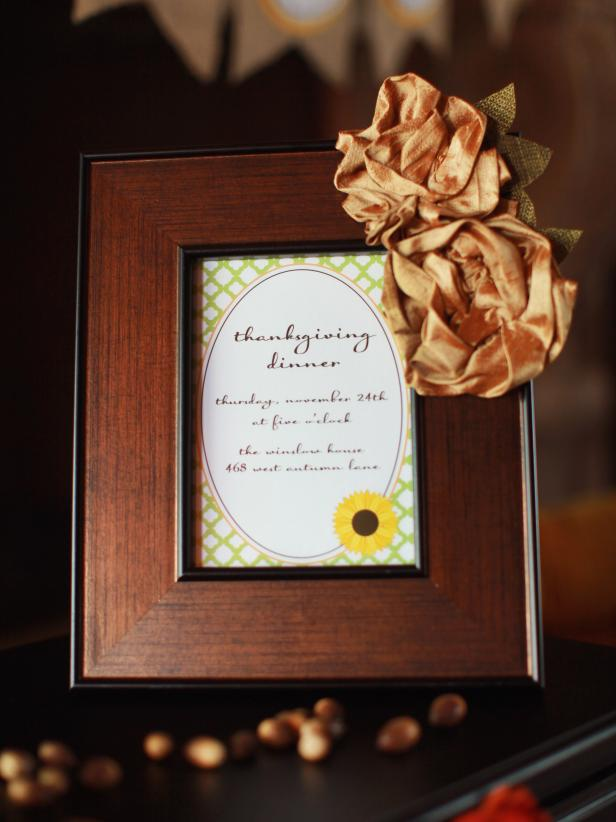 Framed Thanksgiving Dinner Invitation