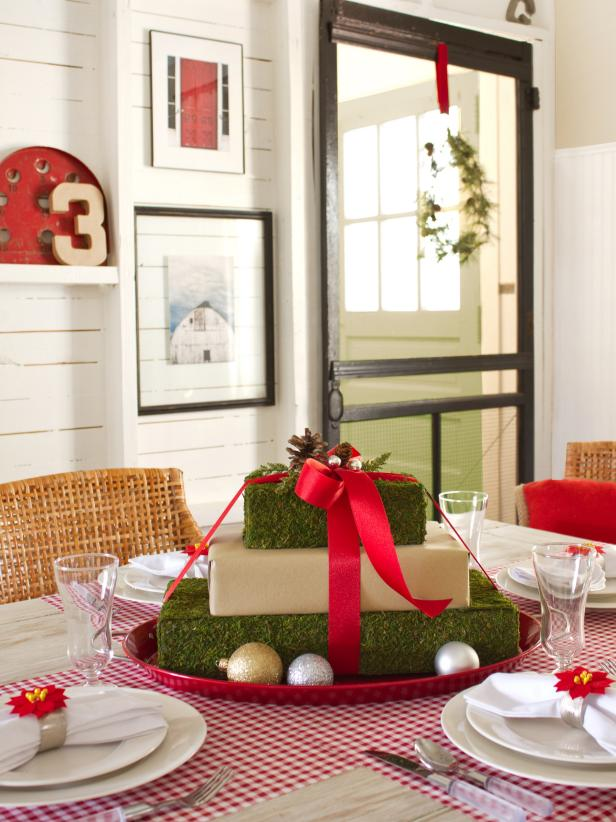 shop this look - Cheap Christmas Table Decorations