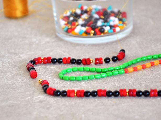 Beads Ready for Kwanzaa Unity Cup