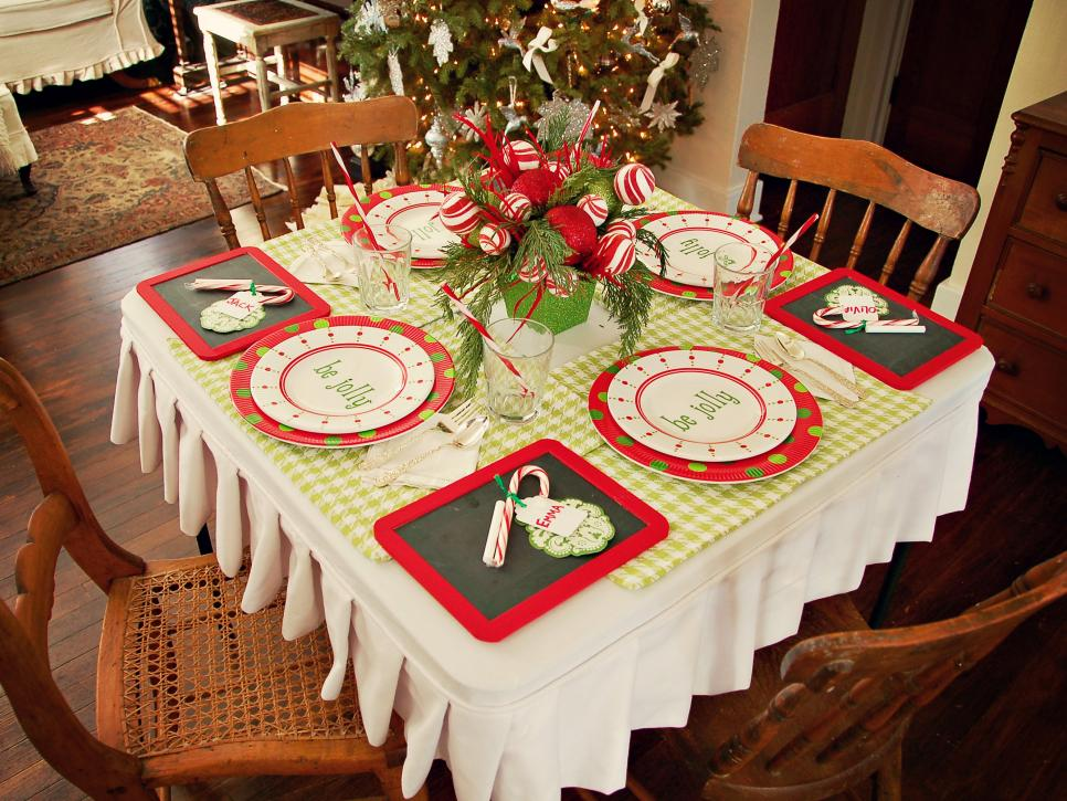 create a festive holiday kids table hgtv