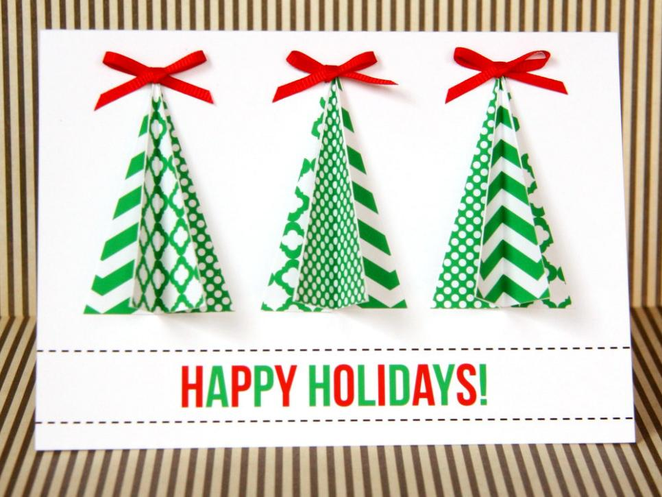 14 handmade christmas cards hgtv - Holiday Christmas Cards