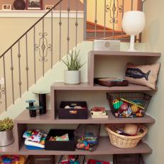 Custom Shelving Unit For Toy Storage