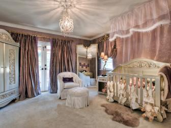 Luxe Girl Nursery With Canopy Crib