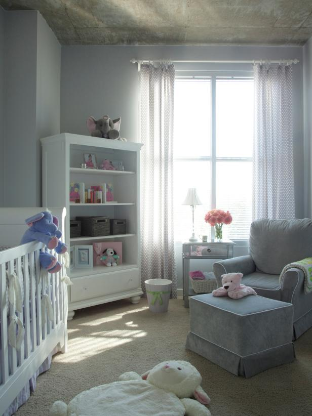 Small urban nursery makeover hgtv - Room decor for small rooms ...