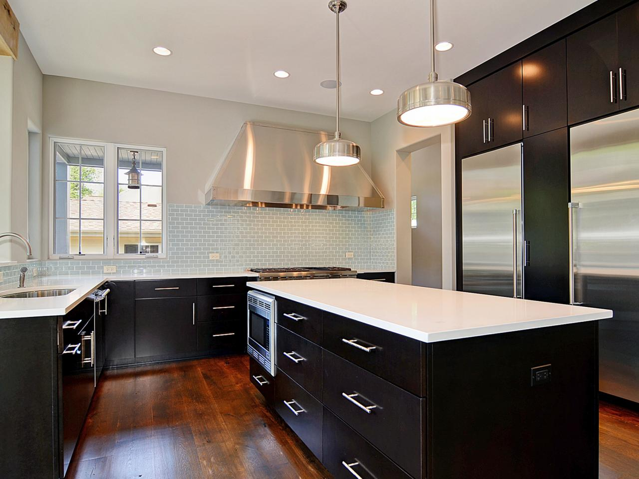 Kitchen theme ideas hgtv pictures tips inspiration hgtv for Black and white galley kitchen