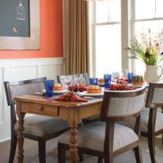 Burnt Orange Dining Room